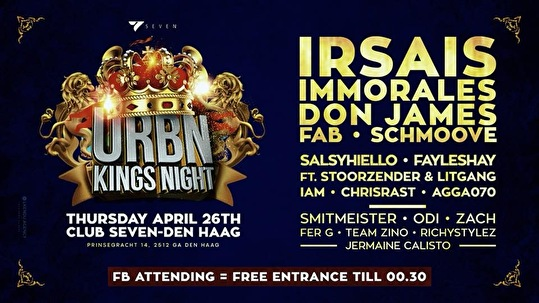flyer URBN Kings Night