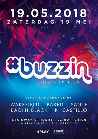 buzzin · 19 may 2018, stairway to heaven, utrecht · event