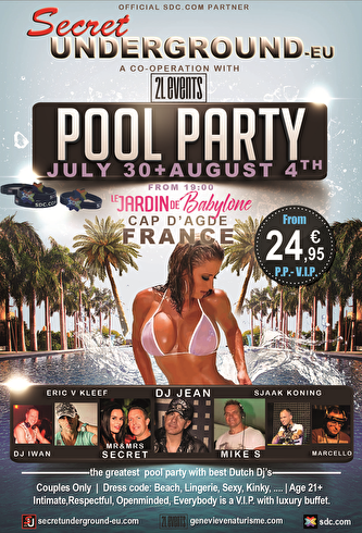 Pool Party in France (flyer)