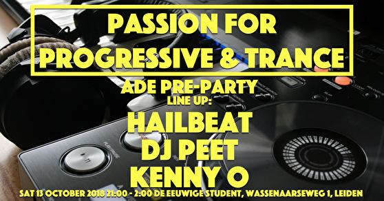 Passion for Progressive & Trance · ADE pre party · 13