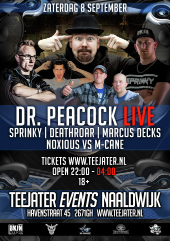 Dr. Peacock Live (flyer)