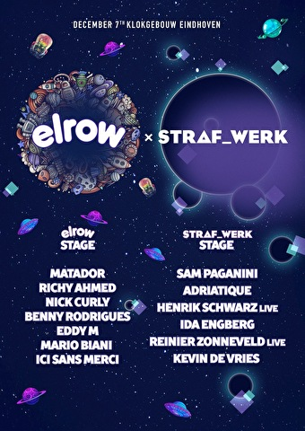 flyer elrow × STRAF_WERK