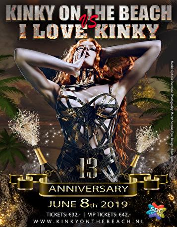 Kinky On The Beach vs I Love Kinky (flyer)
