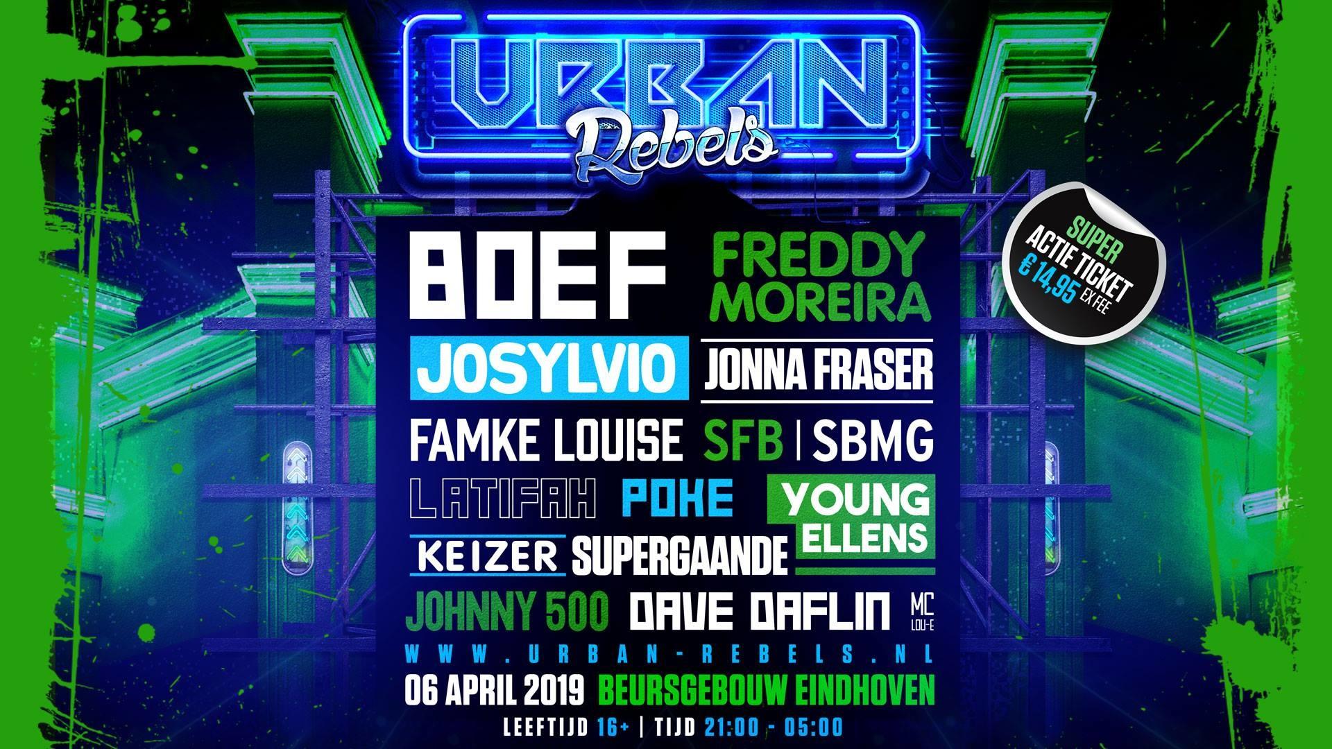 Urban Rebels · 6 April 2019, Beursgebouw, Eindhoven · Event