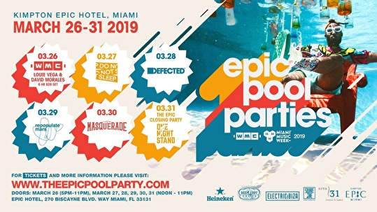 flyer EPIC Pool Parties