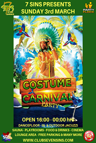 flyer Costume Carnival Party