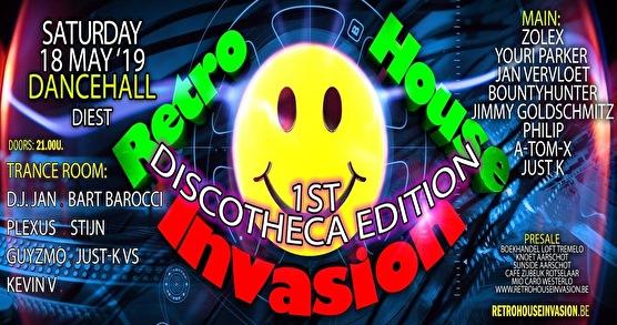 Retro House Invasion (flyer)