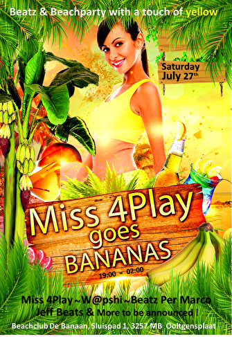 Miss 4Play Goes Bananas (flyer)