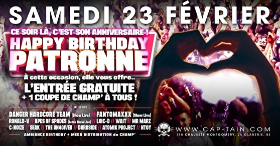 Happy Birthday Patronne (flyer)