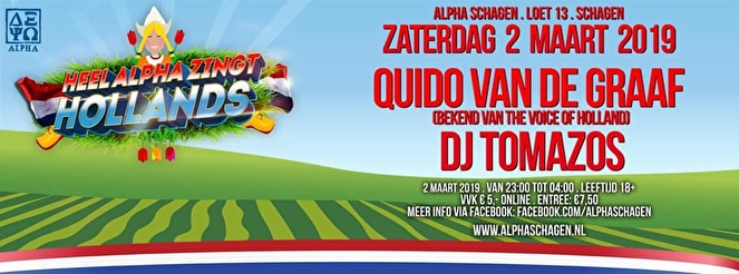 Heel Alpha Zingt Hollands (flyer)