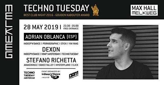 Techno Tuesday (flyer)