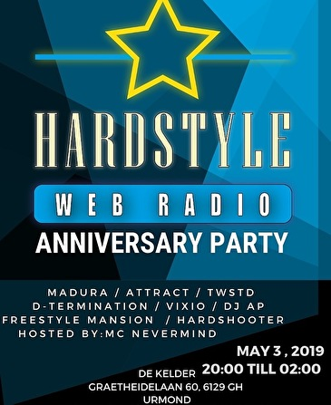 Hardstyle Web Radio (flyer)