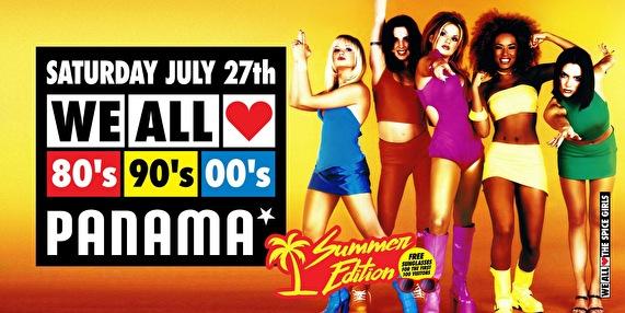 We All Love 80's, 90's & 00's (flyer)