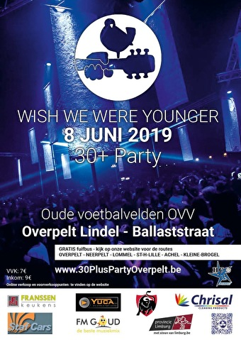 flyer Wish we were younger party