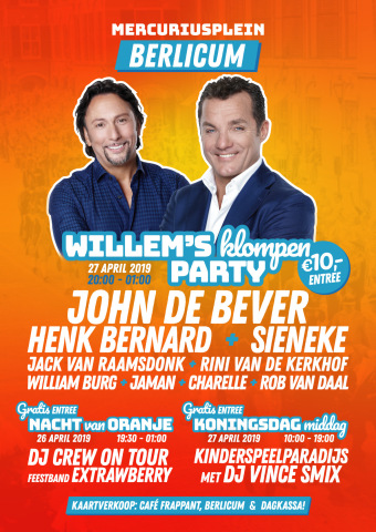 flyer Willem's Klompen Party
