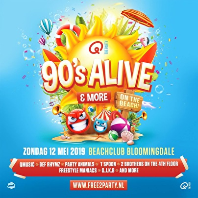 flyer 90's Alive & More On the Beach