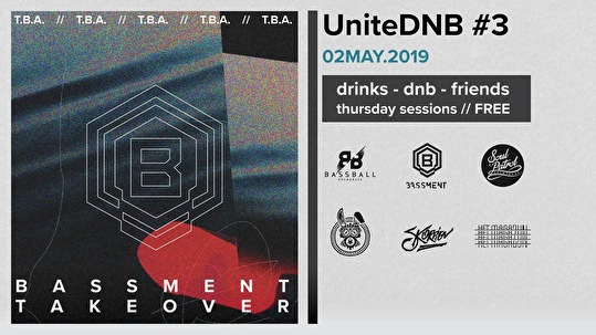 flyer UniteDNB Bassment Takeover