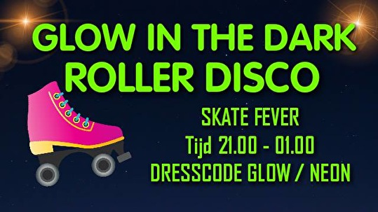 flyer Glow IN the Dark Roller Skate Party