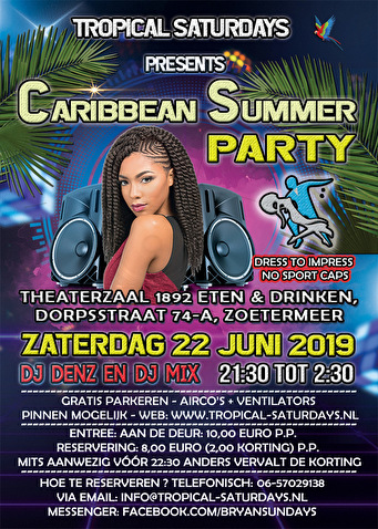 flyer Caribbean Summer Party
