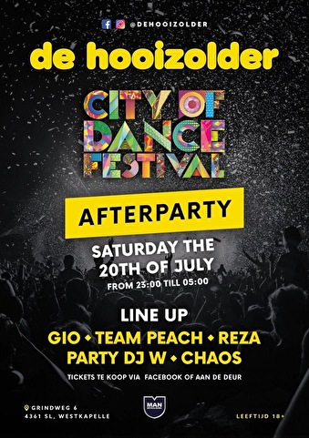 flyer City of Dance Afterparty