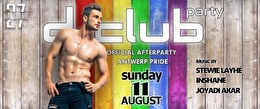 flyer D-Club Party Official Afterparty Antwerp Pride