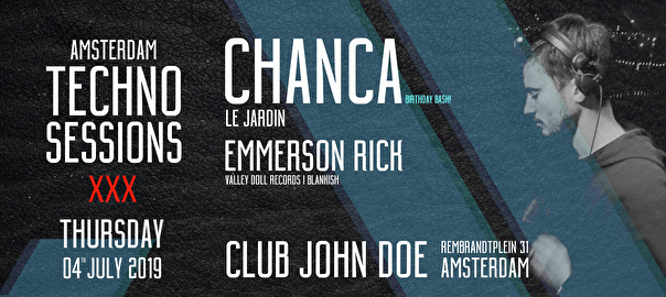 flyer Amsterdam Techno Sessions