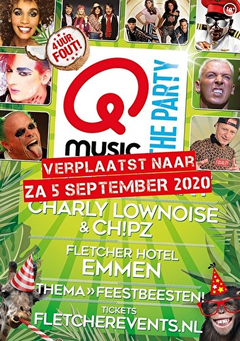 flyer Qmusic the Party