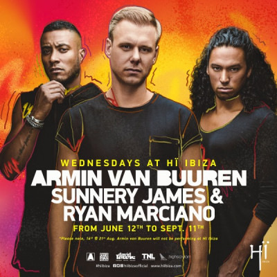 flyer Armin van Buuren × Sunnery James & Ryan Marciano