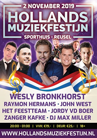 flyer Hollands Muziekfestijn