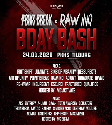 flyer Point Break & Raw Inq