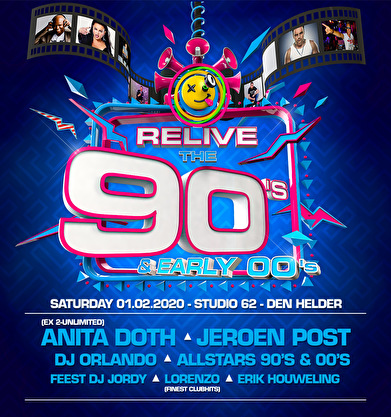 flyer Relive The 90's