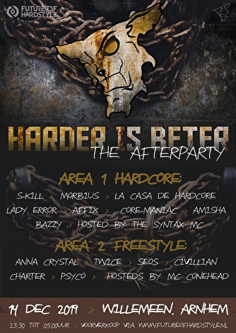 flyer Harder is Beter × The Afterparty