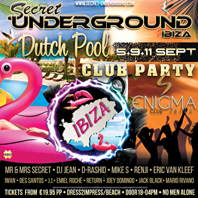 flyer Pool and Club Party at Ibiza