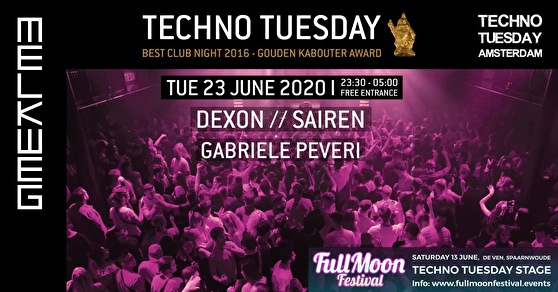 flyer Techno Tuesday