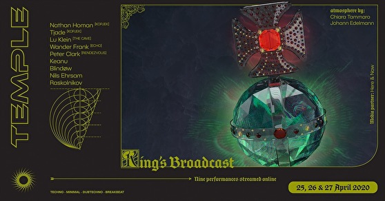 flyer Temple King's Broadcast