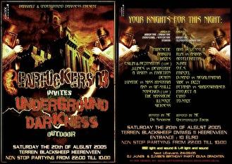 Earfuckers 03 invites Underground Darkness (flyer)