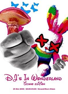 DJ's in Wonderland (flyer)