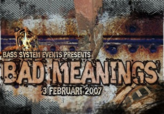 Bad meanings (flyer)