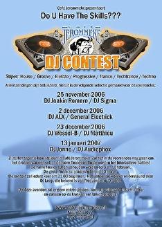 DJ Contest Café Jerommeke (flyer)