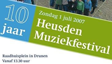 10 jaar Heusden muziekfestival (flyer)