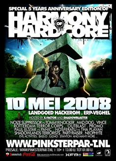 Harmony of Hardcore (flyer)