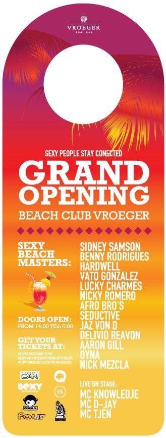 Grand Opening Beachclub Vroeger (afbeelding)