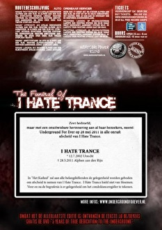 The funeral of I hate trance (afbeelding)