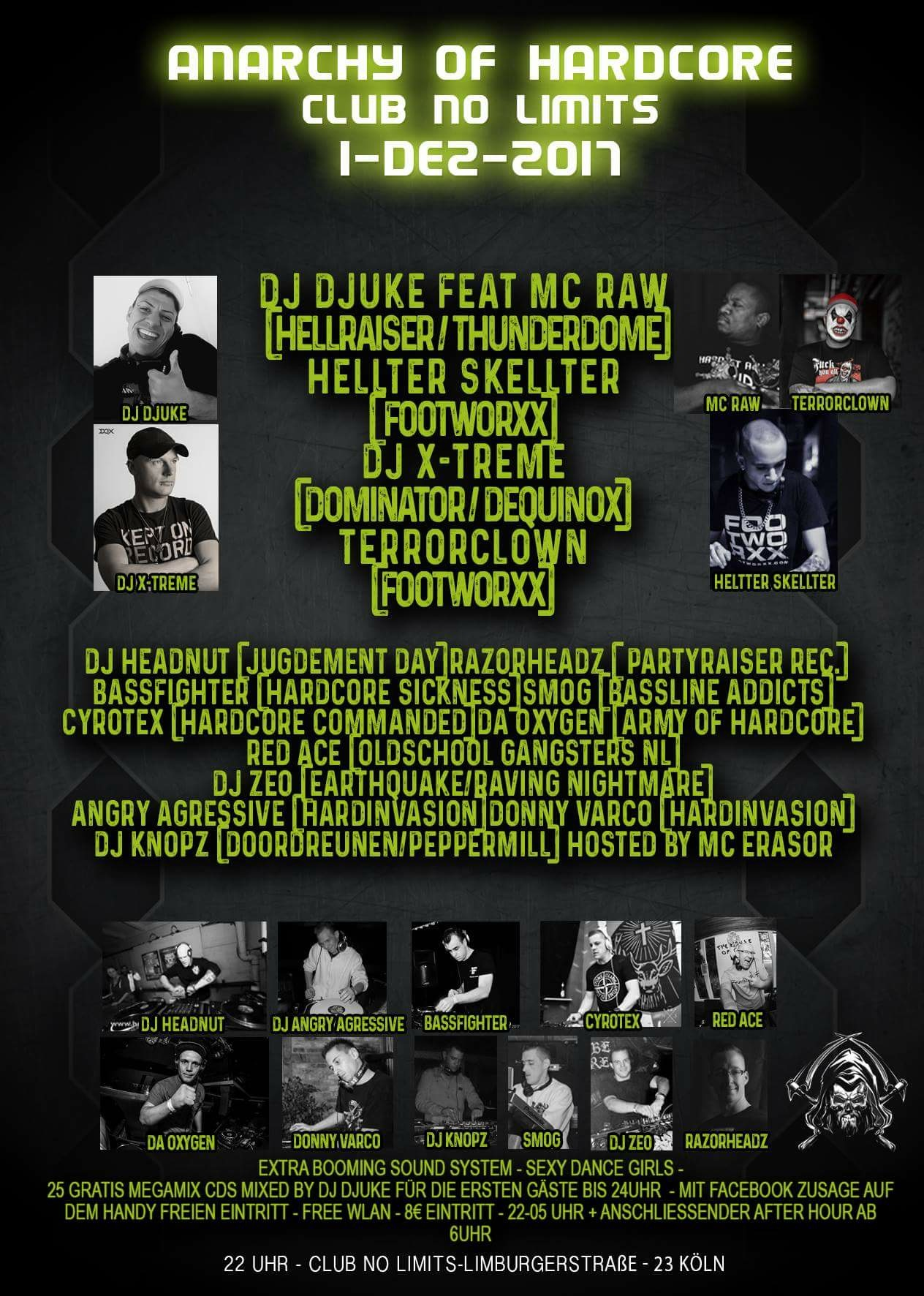 Anarchy of hardcore - Tickets, line-up, timetable & info